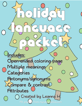 Holiday Language Packet