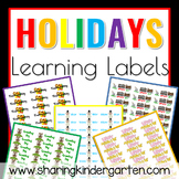 Holiday Learning Labels (Word Doc)