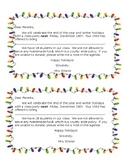 Holiday Letter (Christmas Party Letter)
