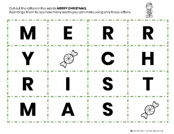 Holiday Letter Scramble - Christmas