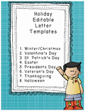 Holiday Letter Templates