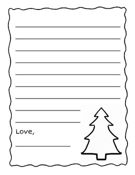 Holiday Letter Writing - Supporting Details Writing - Includes blank page