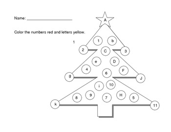Holiday Letter and Number Identification
