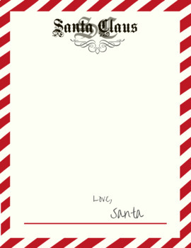 Free Holiday Letterhead Stationary