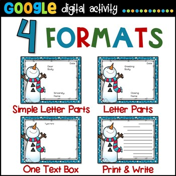 Holiday Letters for Google Classroom
