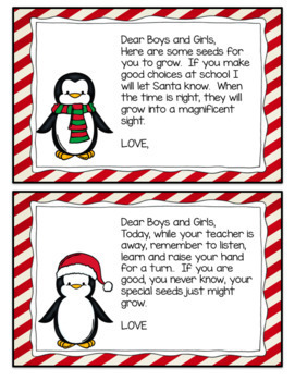 Holiday Letters from an Elf Gingerbread Man Penguin Reindeer and Snowman