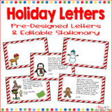 Holiday Letters from an Elf Gingerbread Man Penguin Reinde