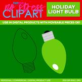 Holiday Light Bulb Clipart Single