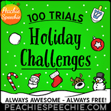 Winter Holiday Challenges for 100 Repetitions by Peachie Speechie