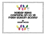 Holiday Lightbulb Counting On 0 - 18