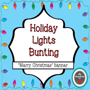 Holiday Lights Banner - Merry Christmas!