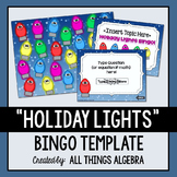 Bingo Game Template: Holiday Lights