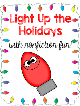 Holiday Lights (Christmas) Nonfiction Article and Comprehension Activities