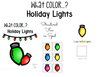 Holiday Lights Color Adapted Book