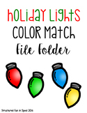 Holiday Lights Color Match for Preschool, Pre-K and Special Needs