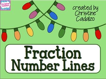 Fraction Number Lines Christmas Lights