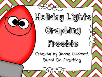 Holiday Lights Graphing Freebie!