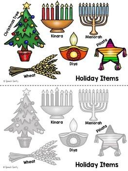 Holiday Lights Interactive Book - FREEBIE!