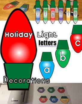 Holiday Lights Letter Decorations