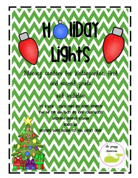 Holiday Lights - Literacy Centers for K-2