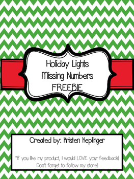 Holiday Lights Missing Numbers FREEBIE!