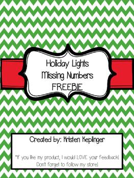 Holiday Lights Missing Numbers FREEBIE!