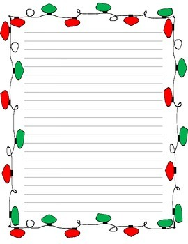 Holiday Lights Stationary