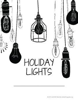 Holiday Lights Task Cards