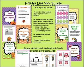 Holiday Line Plot Bundle