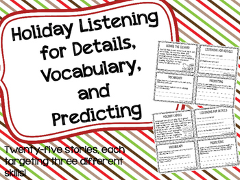 Holiday Listening for Details, Vocabulary, and Predicting