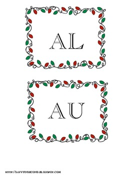 Holiday Literacy Center: Aw, Au, Ough Word Work