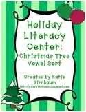 Holiday Literacy Center: Christmas Tree Vowel Sort