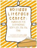Holiday Literacy Center: Pumpkin Pie Diphthong Sort