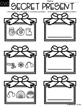 Holiday Literacy Centers-EDITABLE