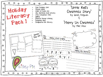 HOLIDAY: Christmas- Literacy Pack I