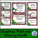 Holiday Literacy and Math Activities Bundle