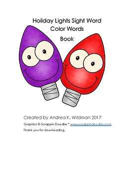 Holiday Little Lights Sight Word Color Words Book