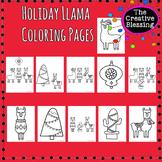 Holiday Llama Coloring Pages