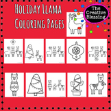 Holiday Llama Coloring Pages