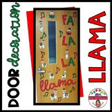 Holiday Llama Door Decor Set
