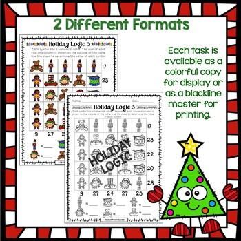 Holiday Math Logic Pack