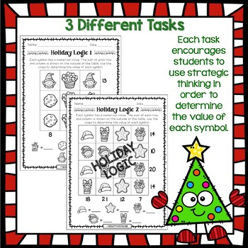 Holiday Math Logic Pack