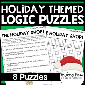 holiday logic puzzles by lindsay perro teachers pay teachers. Black Bedroom Furniture Sets. Home Design Ideas