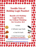 Terrific Trio of Holiday Logic Puzzles!