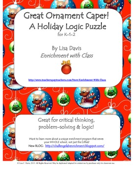Terrific Trio of Holiday Logic Puzzles!