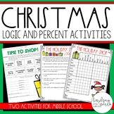 Christmas Logic and Percent Activities