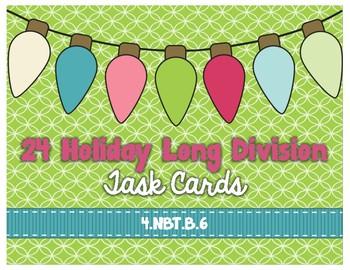 Holiday - Long Division Task Cards 4.NBT.B.6