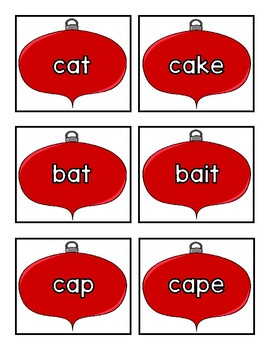 Holiday Long and Short Vowel Sort