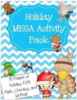 Holiday MEGA Activity Pack - Math, Literacy, and Writing