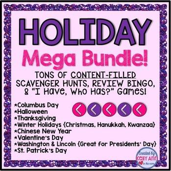 Holidays Mega Bundle of Games/Activities